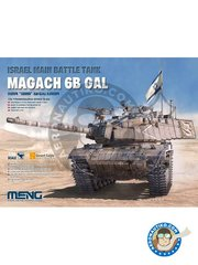 Meng Model: Tank kit 1/35 scale - Magach 6B GAL - plastic parts, water slide decals and assembly instructions