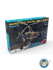 Miniart: Airplane kit 1/35 scale - Avro 671 Rota Mk.I RAF - photo-etched parts, plastic parts, water slide decals and assembly instructions