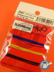 Model Factory Hiro: Wire - Piping cord 0.4 mm - Red, blue, yellow and black - 1 meter long - 4 units