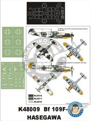 Montex Mask: Masks 1/48 scale - Bf 109F-4 - paint masks, placement instructions and painting instructions - for Hasegawa kits