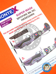Montex Mask: Masks 1/48 scale - Supermarine Spitfire Mk. IX - for Hasegawa kit