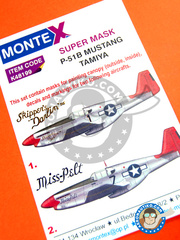 Montex Mask: Masks 1/48 scale - North American P-51 Mustang B - for Tamiya kit