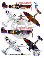 Montex Mask: Masks 1/48 scale - Supermarine Spitfire Mk. Vb - barrels in metal and masks - for Tamiya reference TAM61035