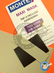 Montex Mask: Masks 1/48 scale - Grumman F6F Hellcat 3 - paint masks - for Hasegawa kits image