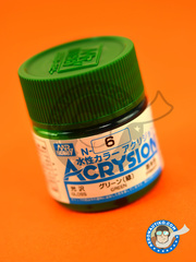 Mr Hobby: Acrysion Color paint - Green gloss image