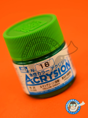 Mr Hobby: Acrysion Color paint - Yellow green gloss
