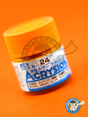 Mr Hobby: Pintura gama Acrysion Color - Naranja amarillento - Orange yellow image