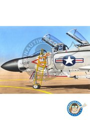 Plusmodel: Ladder 1/48 scale - Ladder for F4 Phantom II - plastic parts and assembly instructions - for all kits