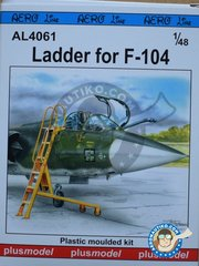 Plusmodel: Ladder 1/48 scale - Ladder for F-104 - plastic parts and assembly instructions - for all kits