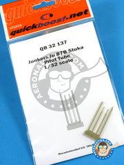 Quickboost: Pitot tube 1/32 scale - Junkers Ju-87 Stuka B - Luftwaffe - resin parts and assembly instructions - for Trumpeter kit
