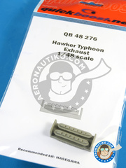 Quickboost: Exhaust 1/48 scale - Hawker Typhoon Mk Ib - resin parts - for Hasegawa reference 09059 image