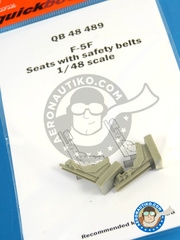 Quickboost: Ejection seat 1/48 scale - Northrop F-5 F - resin parts - for AFV Club kit image