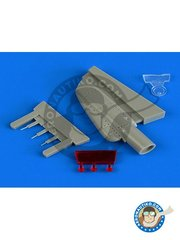 Quickboost: Electronic bay 1/48 scale - Grumman F-14A/F-14B Tomcat chin pod with ECM/TCS equipment - rubber parts - for Tamiya kits