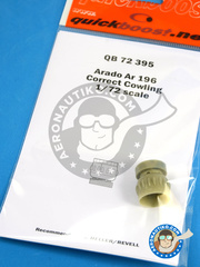 Quickboost: Cowling 1/72 scale - Arado Ar 196 - resins - for Heller and Revell kit image