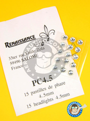 Renaissance Models: Lights - Round focus 4.5mm  - other materials - 15 units
