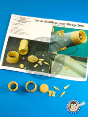 Renaissance Models: Upgrade 1/48 scale - Dassault Mirage 2000 - resin parts and assembly instructions - for Heller kit