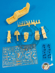 Renaissance Models: Cockpit set 1/48 scale - Cockpit for Dassault Mirage 2000  D / N - photo-etched parts, resin parts and assembly instructions - for Heller kit