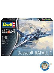 Revell: Airplane kit 1/48 scale - Dassault Rafale C  - plastic parts, water slide decals and assembly instructions