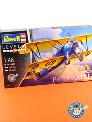 Revell: Airplane kit 1/48 scale - Stearman PT-17 Kaydet - USAF (US4) - different locations - plastic model kit image