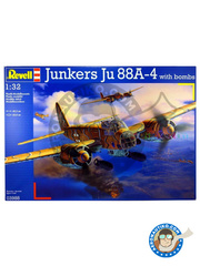Revell: Airplane kit 1/32 scale - Junkers Ju-88 A-4 - plastic parts, water slide decals and assembly instructions