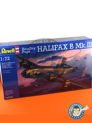 Revell: Airplane kit 1/72 scale - Handley Page Halifax B Mk. III / V / VII - Skipton-on-Swale, England, December 1944 (GB4); Tarrant Rushton, England, April 1945 (GB4) - plastic parts, water slide decals and assembly instructions image