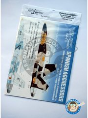 "Series Españolas: Marking / livery 1/48 scale - McDonnell Douglas EF-18 Hornet ""Spanish Aggressors"". - Ala 21/11 Báse Aérea de Morón, Spain (ES0) - water slide decals and placement instructions - for all kits"