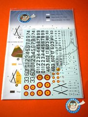 Series Españolas: Marking / livery 1/72 scale - North American T-6 Texan D/G - Fuerza Aérea Española (ES0) - Ala Mixta Nª 46 Gando, Infante de Orleans Fundation 1975 - water slide decals and assembly instructions