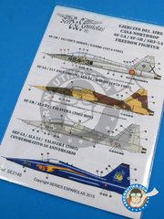 Series Españolas: Marking / livery 1/48 scale - Northrop F-5 Freedom Fighter A/B - Fuerza Aérea Española (ES0) - different locations - water slide decals and placement instructions - for all kits image