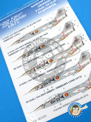 Series Españolas: Marking / livery 1/72 scale - Lockheed F-104 Starfighter G - Fuerza Aérea Española (ES0) - Torrejon Air Base - water slide decals and assembly instructions - for all kits