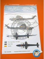 Series Españolas: Marking / livery 1/48 scale -  Bell AH-1G COBRA G - Base Naval de Rota (ES0) - Rota Naval Station 1972 - water slide decals and placement instructions - for all kits