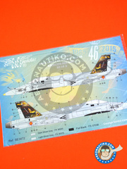 Series Españolas: Marking / livery 1/72 scale - McDonnell Douglas F/A-18 Hornet A - Báse Aérea de Gando (ES0) - Gando Air Base 50 anniversary  - water slide decals and placement instructions - for Academy reference 12424, or Airfix references 04032 and 3058, or AMT references 8697, 8703 and 8802, or Fujimi reference FJ74001, or Hasegawa reference 00625