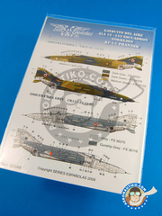 Series Españolas: Marking / livery 1/48 scale - McDonnell Douglas F-4 Phantom II C -  (ES0) - Torrejon Air Base - water slide decals and placement instructions - for all kits