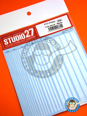 Studio27: Decals - White lines - water slide decals