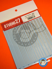 Studio27: Decals - Silver lines - water slide decals