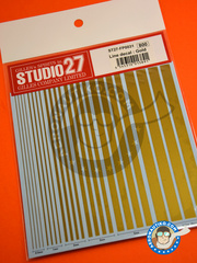 Studio27: Decals - Gold lines - water slide decals - for all kits