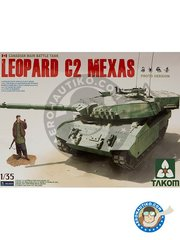 Takom: Tank kit 1/35 scale - Canadian Main Battle Tank Leopard C2 MEXAS -  () - photo-etched parts, plastic parts, water slide decals and assembly instructions