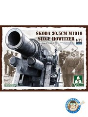 Takom: Howitzer 1/35 scale - Škoda 30.5cm M1916 Siege Howitzer. Siege Of Sevastopol 1942 - plastic parts and assembly instructions