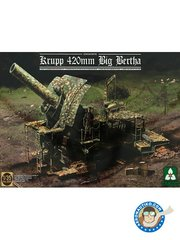 Takom: Howitzer 1/35 scale - German Empire Krupp 420mm Big Bertha - plastic parts and assembly instructions