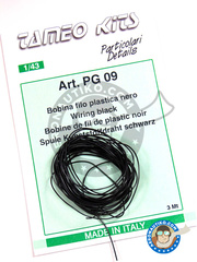 Tameo Kits: Wire - Black piping cord - 3 meters