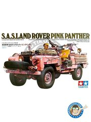 "Tamiya: Military vehicle kit 1/35 scale - S.A.S. Land Rover ""Pink Panther"" - plastic parts and assembly instructions"