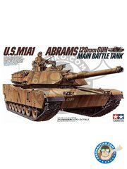 Tamiya: Tank kit 1/35 scale - U.S. M1A1 Abrams - plastic parts, water slide decals and assembly instructions