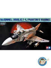 Tamiya: Airplane kit 1/32 scale - McDonnell Douglas F-4J Phantom II marines - september 1972 (US0); June 1971 (US0); July 1977 (US0) - plastic parts, rubber parts, water slide decals, white metal parts and assembly instructions