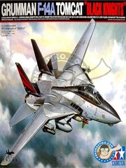 "Tamiya: Airplane kit 1/32 scale - Grumman F-14A Tomcat ""Black Knights"" - USS Kitty Hawk (US0); USS Enterprise (US0) - metal parts, plastic parts, rubber parts, water slide decals and assembly instructions"