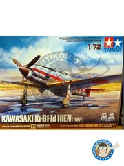 Tamiya: Airplane kit 1/72 scale - Kawasaki Ki-61-Id Hien (Tony) - Japan - plastic parts, water slide decals and assembly instructions