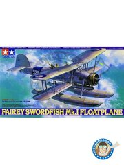 Tamiya: Airplane kit 1/48 scale - Fairey Swordfish Mk.I Floatplane -  (GB0) - plastic parts, white metal parts and assembly instructions