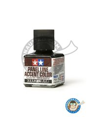 Tamiya: Paint -  Panel line accent color brown - for all kits