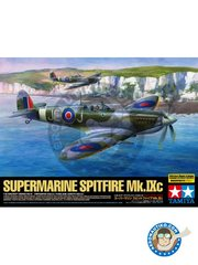 Tamiya: Airplane kit 1/32 scale - Supermarine Spitfire Mk. IX C - Tunisia, 1942 (GB4); Nha-Trang, Indochina 1948 (FR0) - RAF 1936 - metal parts, paint masks, photo-etched parts, plastic parts, rubber parts, water slide decals and assembly instructions