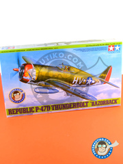 Tamiya: Airplane kit 1/48 scale - Republic P-47 Thunderbolt D Razorback - USAF, 1945 (US7); USAF (US7) 1944 - plastic parts, water slide decals and assembly instructions image