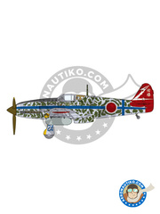 Tamiya: Airplane kit 1/48 scale - Kawasaki Ki-61 I Hien - Imperial Japanese Army Air Force (JP0) - plastic parts, water slide decals and assembly instructions image