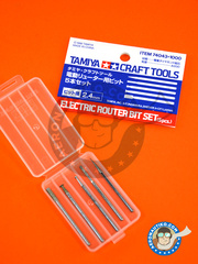 Tamiya: Tools - Electric router bit set - metal parts - 5 units image